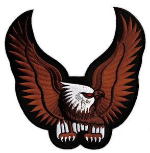 #15 Aigle Marron Eagle Backpatch dos écusson écusson Biker Blouson 24 x 24 cm