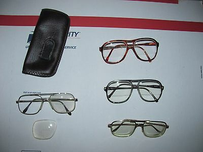Vtg Lot of Men's Used Bifocal Eyeglasses Eye Wear Retro Frames Parts or Repair