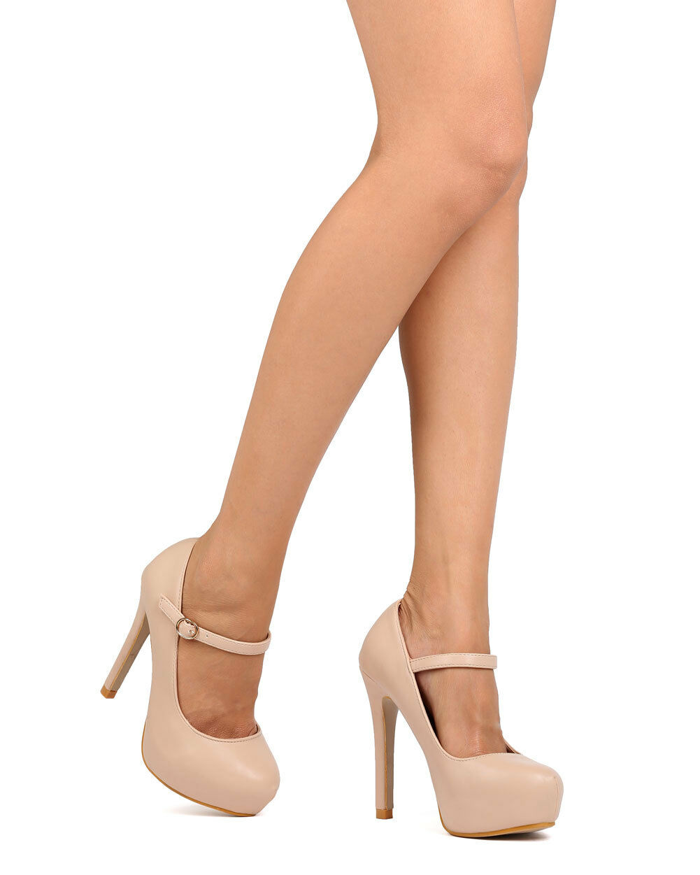 New Women DbDk Party-10 PU Almond Toe Mary Jane Stiletto Platform Stiletto Jane Pump 380b77