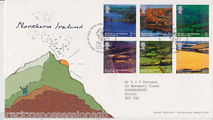 TALLENTS-PMK-GB-ROYAL-MAIL-FDC-FIRST-DAY-COVER-2004-NORTHERN-IRELAND-STAMP-SET