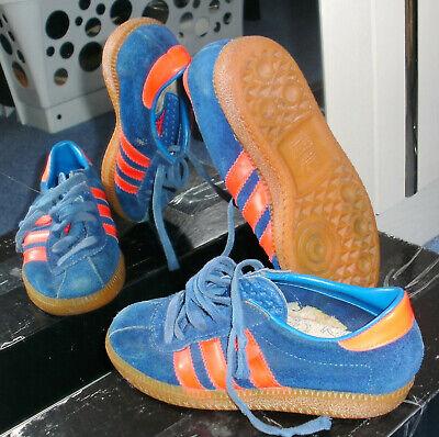 Temperato Rara Adidas Dublino Blu/rosso Stockholm Berna Sneaker Vintage, Tg. 32-mostra Il Titolo Originale Grande Assortimento
