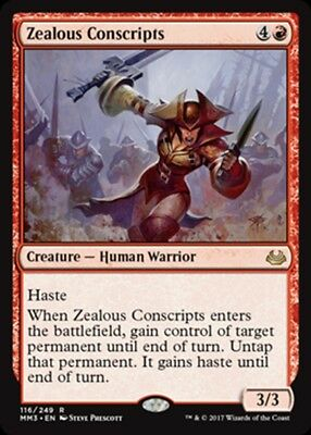 NM//M Zealous Conscripts MTG Magic - R Modern Masters 2017