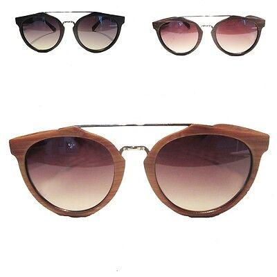 Bamboo Wood Sunglasses Retro Vintage Summer Aviator Glasses