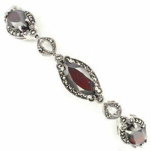 Bracelet Grenat et Marcassites Argent 925__PROMOTION -40% ds.boutique