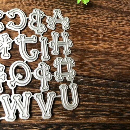 Alphabet Metal Cutting Dies Stencil DIY Scrapbooking Album Stamp Paper Card Arts
