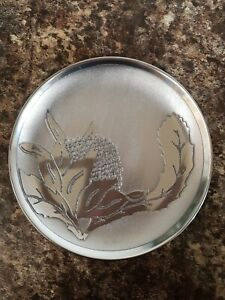 Vintage-Signed-Don-Sheil-Small-Plate-Anodised-Aluminium-Waratha-Pattern