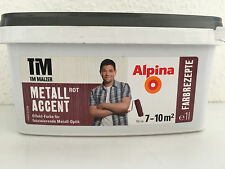 Alpina  Tim Mälzer Metall Accent Effekt Farbe Metall Optik   Rot  1 L / L 5,00
