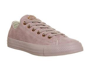 5c4278317712 Chaussures Femme Converse All Star Basse Cuir Lustré Lilas Or Rose ...