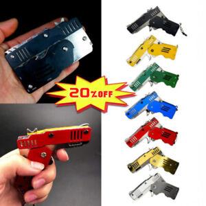 Rubber Band Gun Mini Metal Folding 6-Shot with Keychain 2020 Hot Sales