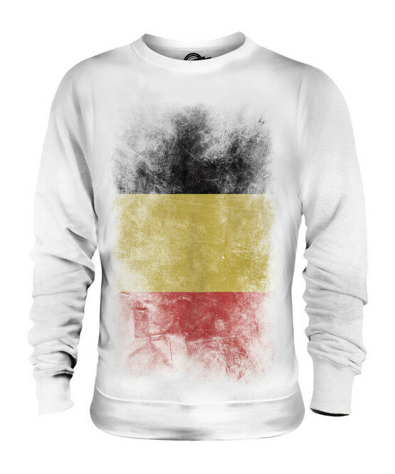 BELGIUM FADED FLAG UNISEX SWEATER TOP BELGIË BELGIEN BELGIQUE BELGIAN