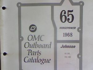 Details about 1968 OMC Johnson / Evinrude 65 hp outboard PARTS MANUAL