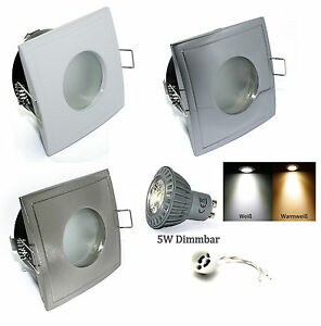 Ceiling-Recessed-Spotlight-Aquarius-S-Square-230V-GU10-Power-LED-5W-50W