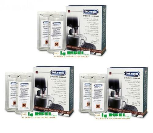 3 conf 2 Decalcificante EcoDecalk Descaler De Longhi Macchine Caffè Originale