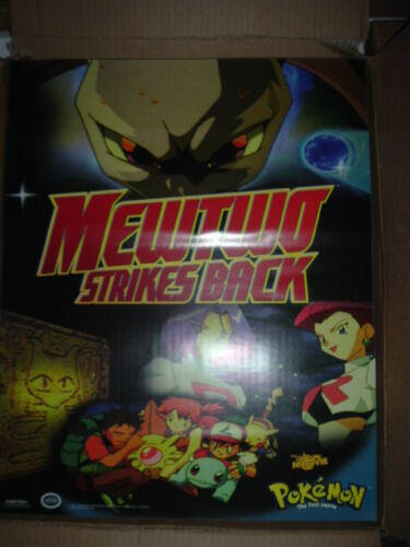 "Pokemon Mewtwo Strikes Back Ash Squirtle Pikachu  Movie Poster 22/""x 34/"" 426"