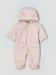 d26eb9953 New Baby Gap Girl Pink Quilted Bear Winter Fleece Lined Bunting Size ...