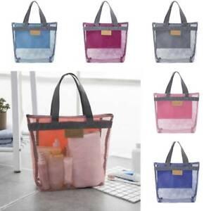 Travel-Large-Cosmetic-Makeup-Bag-Mesh-Toiletry-Tote-Wash-Organizer-Bags-Portable