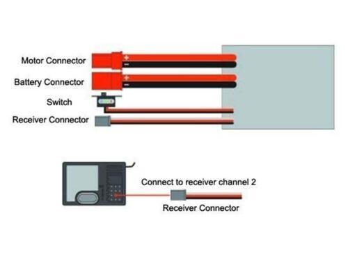 2x RC 10A Brushed ESC Motor Speed Controller 1//16 18 24 Car Boat Tank w//o Brake
