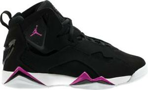 44d174c4afbe JORDAN TRUE FLIGHT GG 342774 001 BLACK FUCHSIA BLAST PINK WHITE ...