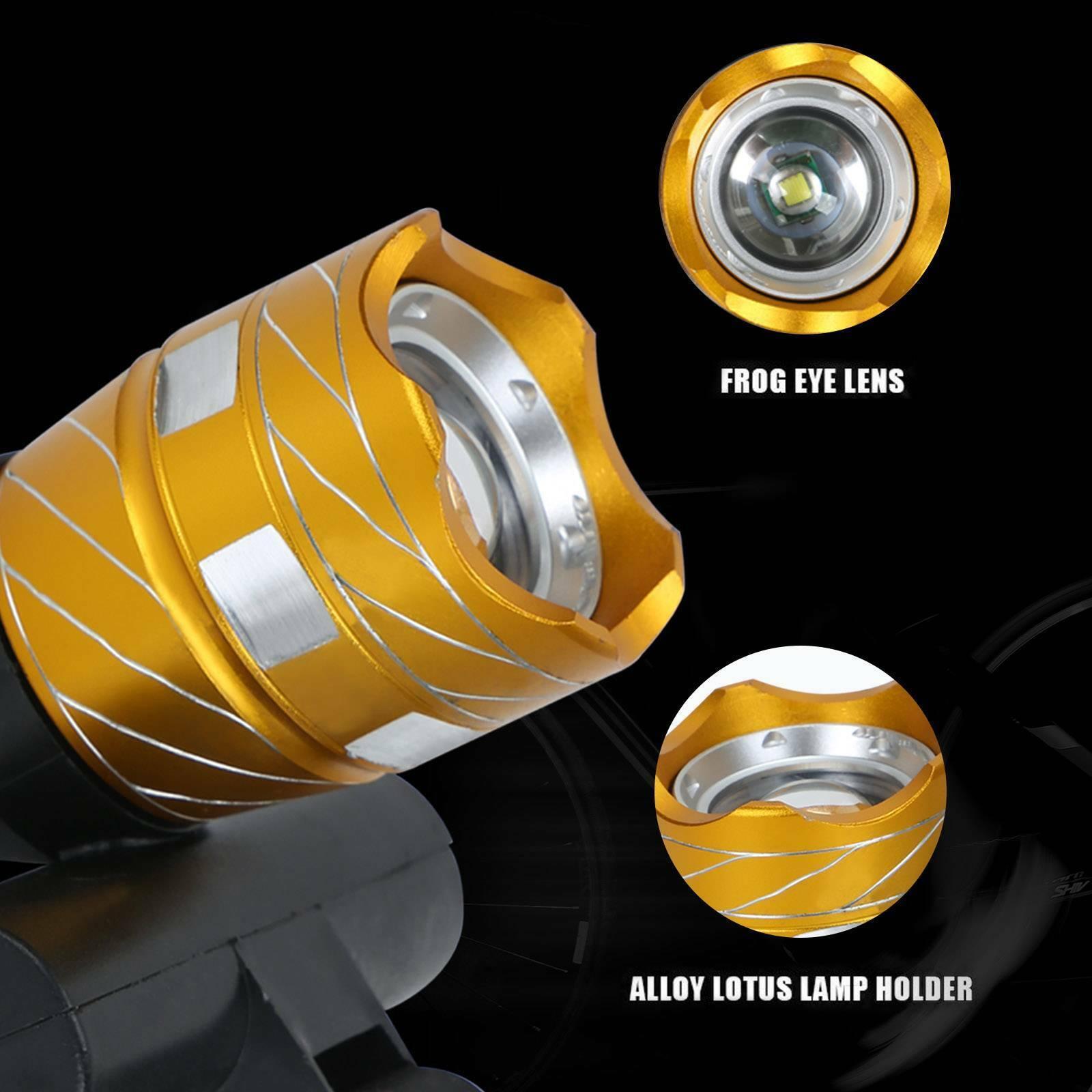 CREE XM-L T6 15LED 3Mode Bicycle Lamp Bike Light Headlight Cycling TorchLight UK