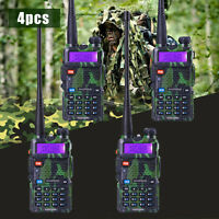 4 Pcs Baofeng Uv-5r Green Vhf&uhf Dual-band Fm Ham 5r Radio Walkie Talkie Usa