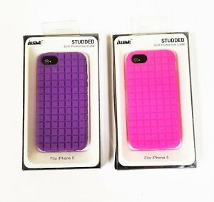 online store 71fb3 c8ba1 Details about IWAVE STUDS 3D HOT PINK,PURPLE SILICONE SOFT PROTECTIVE  iPHONE 5 S C CASE,COVER