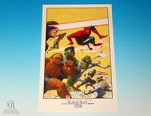 Marvel-Mythos-Limited-Edition-Print-Paolo-Rivera-Art-Spider-Man-Hulk-Thing-2009