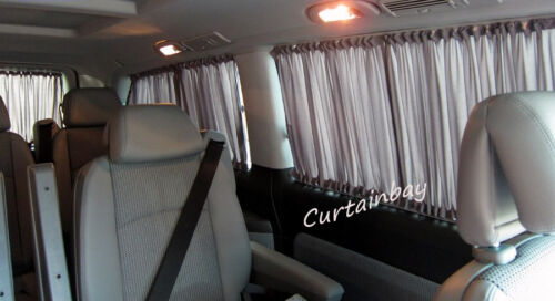 VW transporter T5 rear curtains full set.Campervan Blinds Black