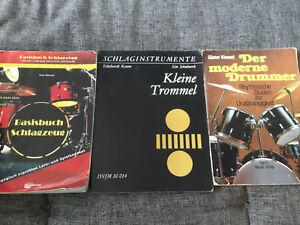 Drums-Schlagzeug-3x-Buch-Kiesant-Moderne-Drummer-Boerner-Basisbuch-Keune-Trommel