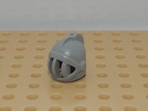 Lego Minifigure Head Piece Castle Fixed Face Grille Light Bluish Gray Helmet #23