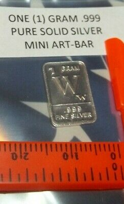 ~ SCORPION ~ 1 Gram .999 Pure Fine Solid Silver Bullion ~ Mini Art//Bar