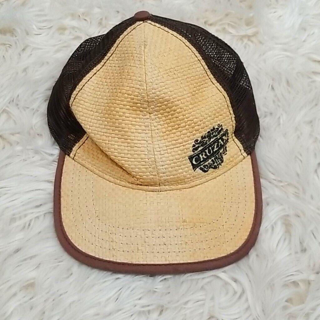 Cruzan Rum Bamboo Wicker Mesh Straw Style Hat Cap - image 1