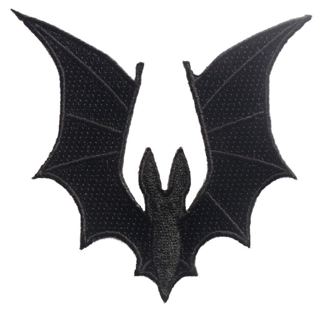 """Bat Wings Embroidered Patch 8cm X 8.5cm(3 1/4"""" x 3 1/2"""") approx"""