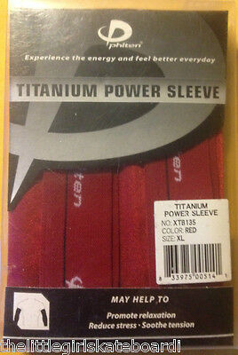 PHITEN TITANIUM POWER SLEEVE PROMOTE RELAXATION,REDUCE STRESS X-LARGE RED!!
