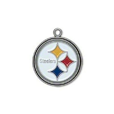 NFL® Pittsburgh Steelers 19mm Multicolored Pewter Charm 2 Per