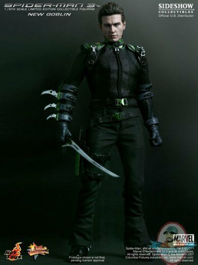 Spider-Man 3 1 6th scale New Goblin James Franco Hot Toys 12 inch Figure