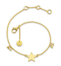 Daisy London Jewellery NEW! 18ct Gold Plated Large Star Good Karma Bracelet