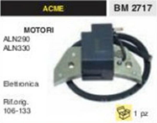 BOBINA ELETTRONICA MOTOCOLTIVATORE MOTORE ACME ALN290 ALN330 ALN 290 ALN 330