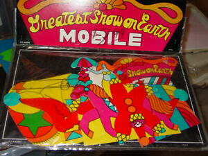 VINTAGE-1970-039-s-OTAGIRI-CIRCUS-MOBILE-BLACKLIGHT-COLLECTIBLE-AMERICANA-JAPAN