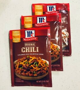 3 Packets Mccormick Chili Original Seasoning Mix 1 25 Oz Ea Best By 9 22 52100091501 Ebay