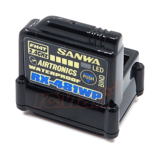 Sanwa RX-481WP 2.4GHz FHSS4 4 Channel Waterproof Receiver RC Cars  107A41311A