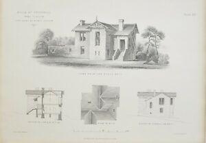 1868-Architektonisch-Aufdruck-Villa-bei-Crosshill-Glasgow-John-Baird-Architekt