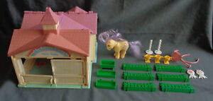 MY-LITTLE-PONY-MLP-G1-Show-stable-Lemon-Drop-HASBRO-1984-accessories-set-toy