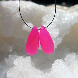 20x8x5mm Dauerhaft Im Einsatz Farbsteine Schmuckherstellung Trendmarkierung 2 Pink Chalcedon Pear Briolette Tropfen Facettiert Ca