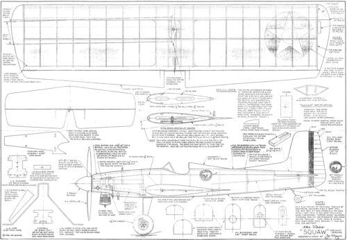 """SQUAW MK2 ligne de contrôle Stunt 39/"""" Span plan"""