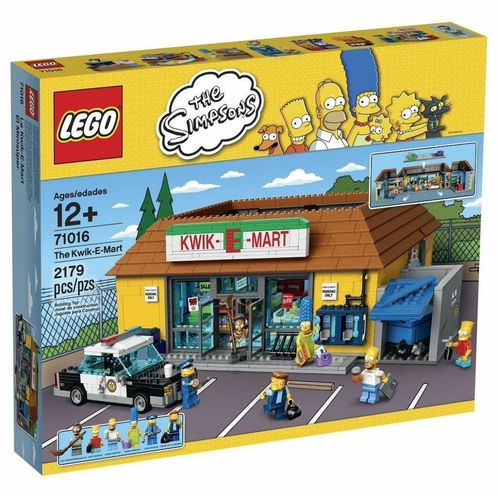 LEGO Simpsons 71016 the Kwik-E-Mart Building Kit New Sealed (2179 PCS) Sealed