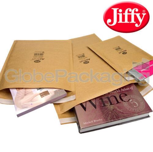 500 x JL00 JIFFY PADDED BUBBLE BAGS ENVELOPES 115x195mm