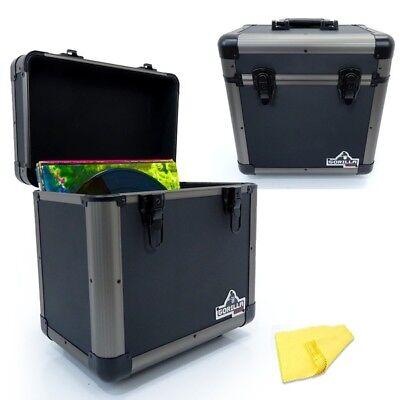 Titanium Gorilla LP60 12 LP Vinyl Record DJ Equipment Storage Carry Case Box Holds 60 Records 3 Colours Available