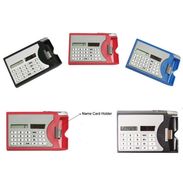 Mini Portable Multifuction 3 In 1 Card Holder Case Solar Power Calculator Gift r