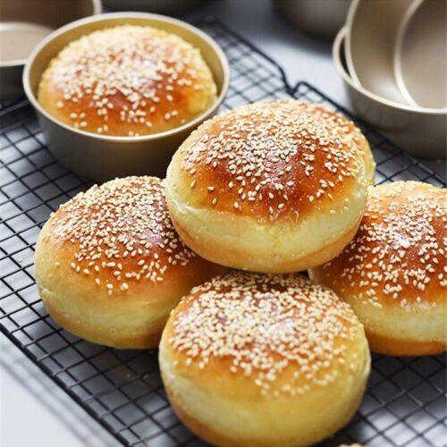 "4/"" Tin Round Bread Cake Pan Bakeware Mold Bake Tray Moulds Kitchen Aluminum"