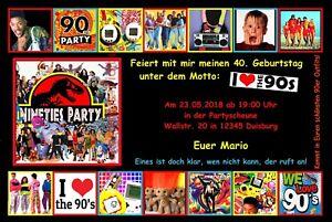 Einladungskarten geburtstag 90er party